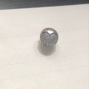 Pandora - pair Sterling Silver Crystal heart
